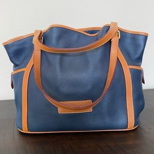 Dooney & Bourke Navy Leather Tote